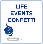 Jewish Life Cycle Events Confetti
