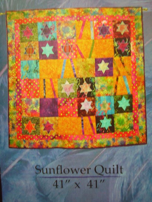 """FREE """"Cat and Sunflower Block"""" Quilt Pattern by The Quilt Company"""