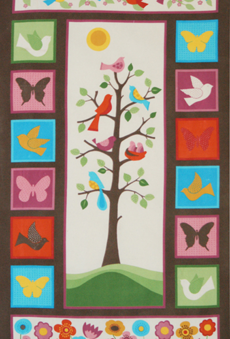 Tree Of Life Flannel Fabric Tree Of Life Panel Bright Colors