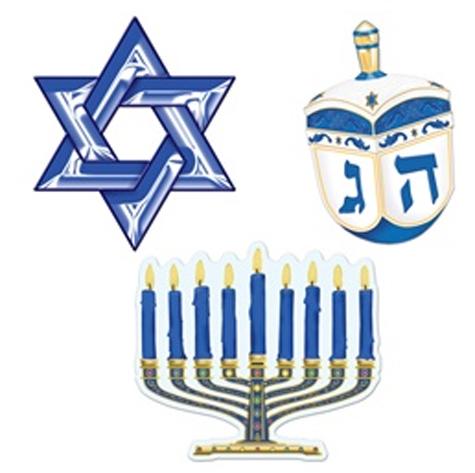 Hanukkah Symbols Cutouts Large